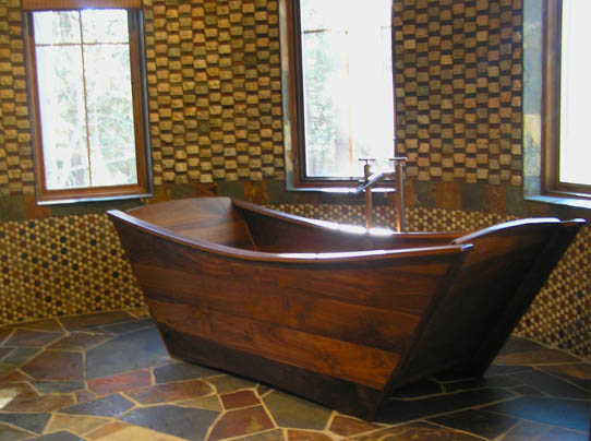 Wooden Bathtub   Double Wood Tub