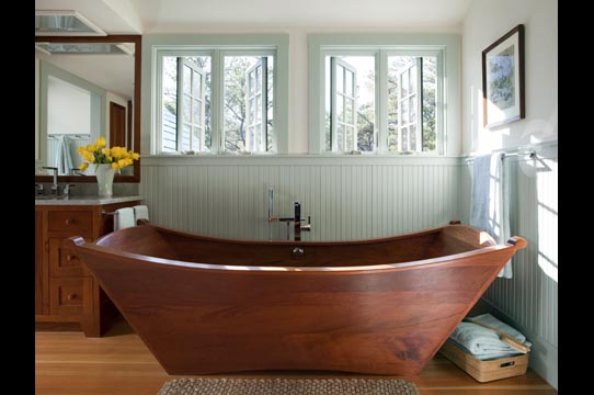 Merveilleux Wooden Bathtub   Double Wood Tub Made Of Mahogany